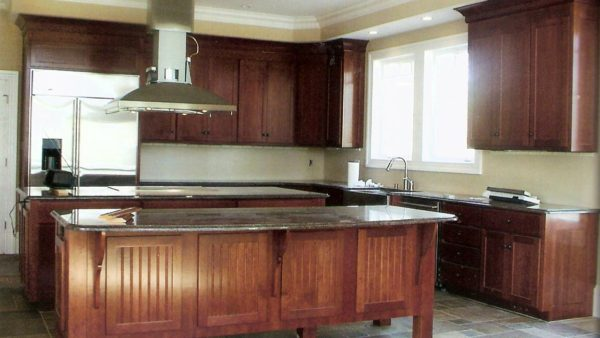 Two Island Cherry Wood Kitchen
