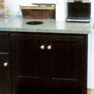 Custom Black Stained Coffee Bar