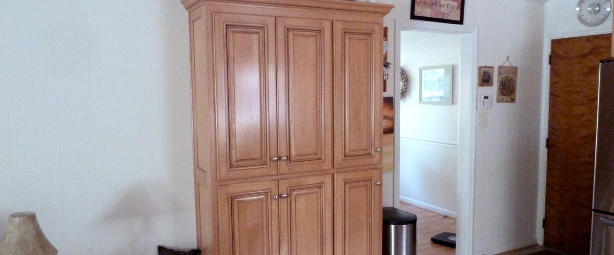 Custom Built Shallow Pantry Cabinet